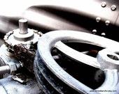Mechanisms  - 8 x 10 Fine Art Photography Print -  Modern Minimalist Industrial Metal Decor - FREE SHIPPING - TAGT team