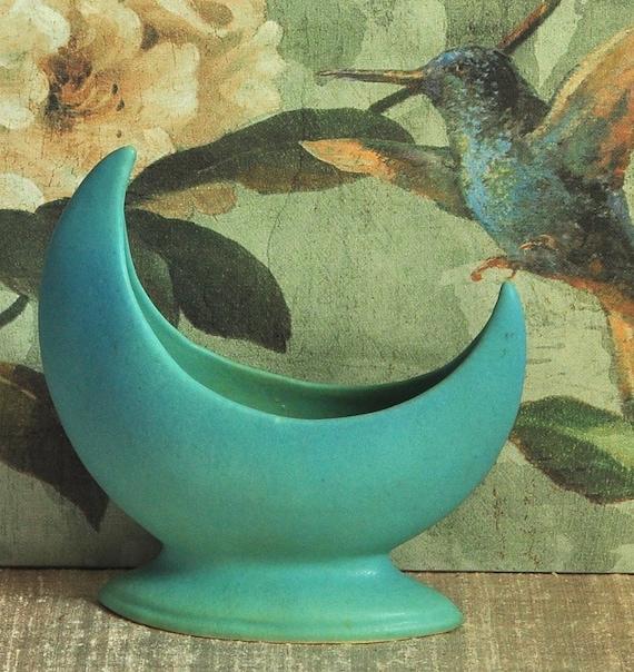 Van Briggle Crescent Moon Vase Vintage Collectibles Rustic