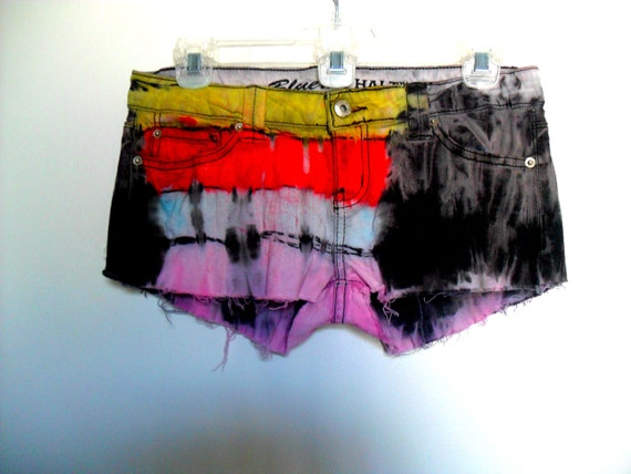 Ultimate Destroyed Flame and Molted Grunge Shorts
