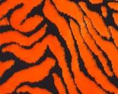ON SALE!!!  Bengal Tiger Faux Fake Fur Fabric Orange/Black 1 Yard