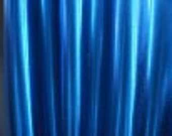"""60"""" Metallic Stretch Spandex Fabric Blue 1 yard"""