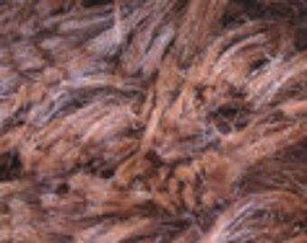 Minky Cuddle Shag Fabric Brown 1 Yard