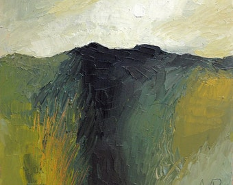 "Original Painting, Oil On Canvas ""Green Hill"" by Michael Broad"