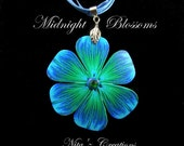 Turquoise & Deep Blue MoonFlower