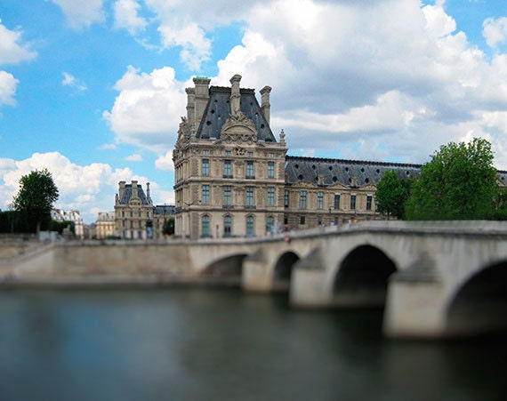 Paris Photography, Paris Print, Louvre and Pont Royal, Fine Art, Paris Bridge, Paris Art, Travel Photograph, Parisian Decor, I Love Paris