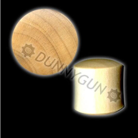 4G Javanese Coffeewood Plugs Organic Hand Carved  Wood Body Piercing Jewelry 4 gauge Earrings