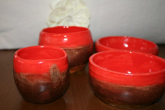 Hand thrown Bowls (set of 4)