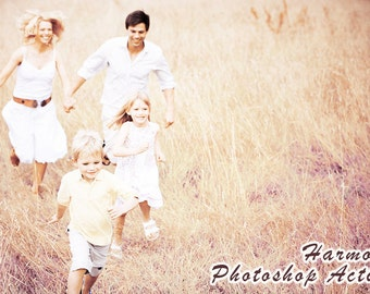 Photoshop Actions Family Photography / Portrait Photo Editing Effects (Harmony)