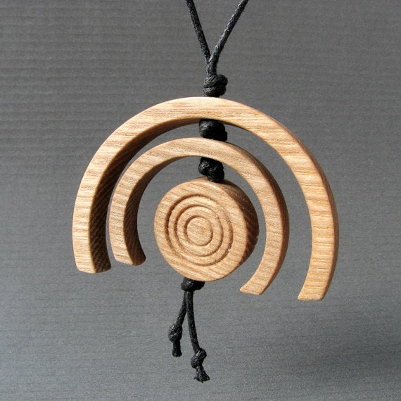 Wooden necklace FOREST BLOSSOM