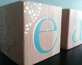 easter decor - word blocks - turquoise and gold lace (champagne)
