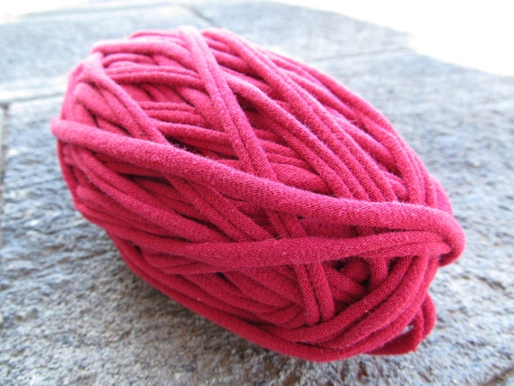 Red Cherry Wine T-Shirt Yarn 43 Yards 4.5 WPI