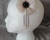 Vintage style lace flower hair clip