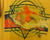 Ocean Pacific Op Super Soft neon Surfer yellow T shirt XS
