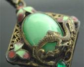 Art Nouveau Dragon - Original Art Nouveau Costume Pendant