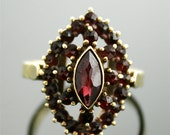 Antique Garnet Ring - Yellow Gold and Garnet Ring