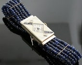 Antique Art Deco 1928  Elgin Watch - 14 Karat White Gold, Diamond, and Sapphire Watch
