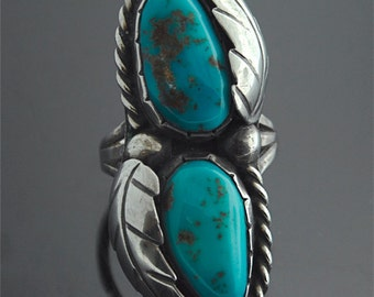 Navajo Turquoise Ring - Sterling Silver and Turquoise Ring