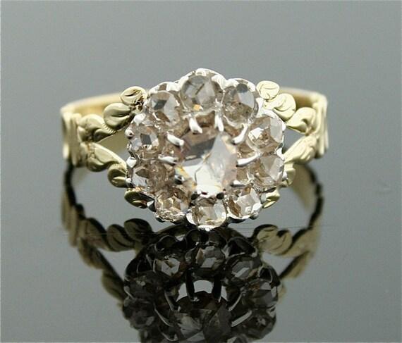 Victorian Rose Cut Diamond Ring