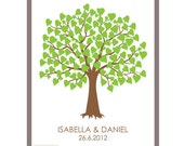 DIY Wedding Tree Family Tree Wishing Tree Guest Book - Wedding Registry - 16 x 20 inch - Up to 100 Fingerprints & Signatures - PDF Poster