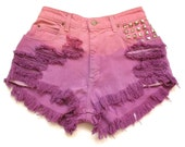 High waist dip dyed jean shorts M
