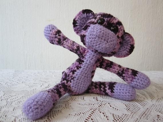 Crochet Purple Camo Monkey