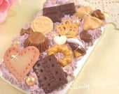 Chocoholic Whipped Cream Deco Kitsch BLACKBERRY CURVE 8520 Phone Case with SWAROVSKI Elements