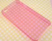 Plain Pink See-through Hard Back iPhone 4 Case for Decoden Projects - DIY Decoden