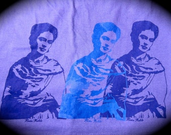 Frida Kahlo- (XL) purple Fine Jersey Short Sleeve T-Shirt
