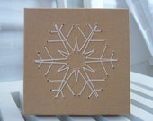 Alstroemeria Snowflake Embroidered Gift Card Box