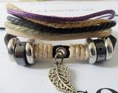 couple bracelet Men Women Wristband cuff bracelet friendship braceletsSoft Leather 218S
