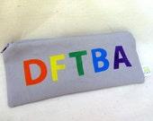 DFTBA Pencil Pouch - clock print lining