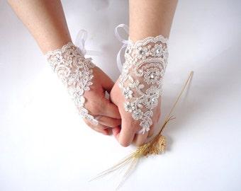 Wedding Gloves, Wedding, Bridal Gloves, Fingerless Gloves, Ivory, Wedding accessories