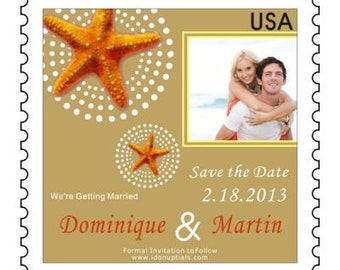 Custom  & Personalized Postage Stamp Save the Date Magnets Can do Roman Theme