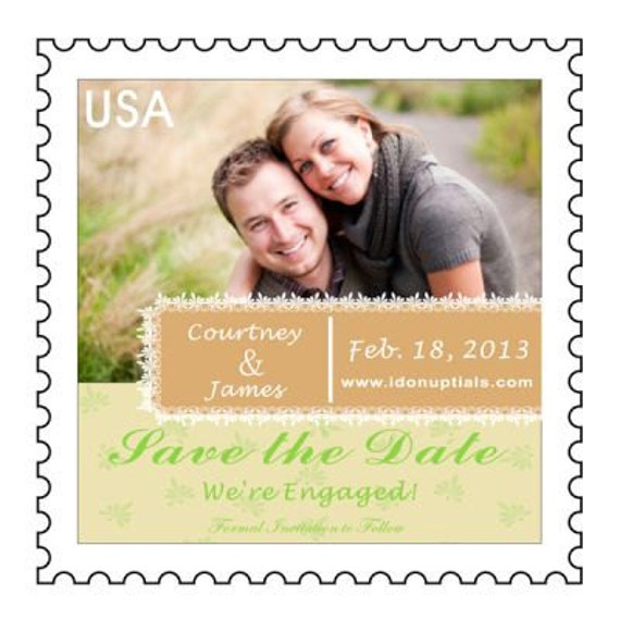 Custom & Personalized Photo Save the Date Wedding Magnets can do Santa Ana Theme in Edwardian