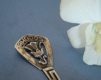 Vintage Silver Spoon, Collectors Item , RHODOS