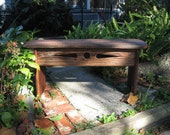 antique heart pine bench 13
