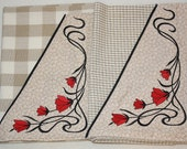 Towel, (set of 2),Kitchen, Embroidered