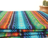 RESERVED LISTING for Rachel - Tribal Fabric, Latin American, Navajo, Ethnic, Bright Colors Stripes, 1 Meter / over 1 Yard