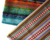 2 Pieces Tribal Fabric, Latin American, Ethnic, Stripes, Half Meter / Yard each piece