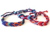 Woven Friendship Bracelets, South American, Bright Colors, SET OF 5