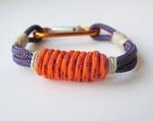 Unisex Rock Climbing Bracelet - Purple Orange Hemp