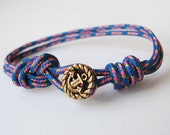 Unisex Anchor Bracelet - Electric Blue