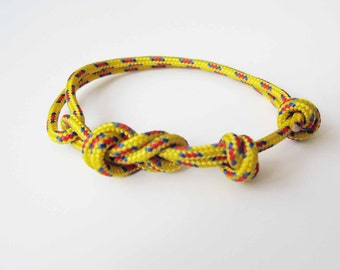 Rope Bracelet - Unisex Figure 8 Rock Climbing Bracelet - New Yellow