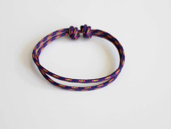 Simple Rope Bracelet - Electric Purple