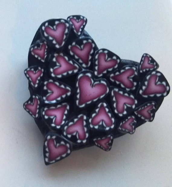 Brooch - Pink Heart pin