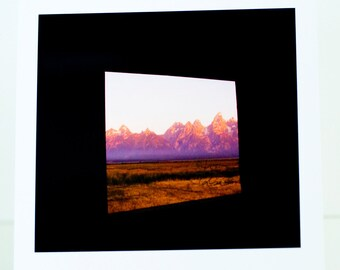 Teton, Mountains, Jackson, WY, Greeting Card, Photograph, Window to the Tetons, Blank, Horizontal