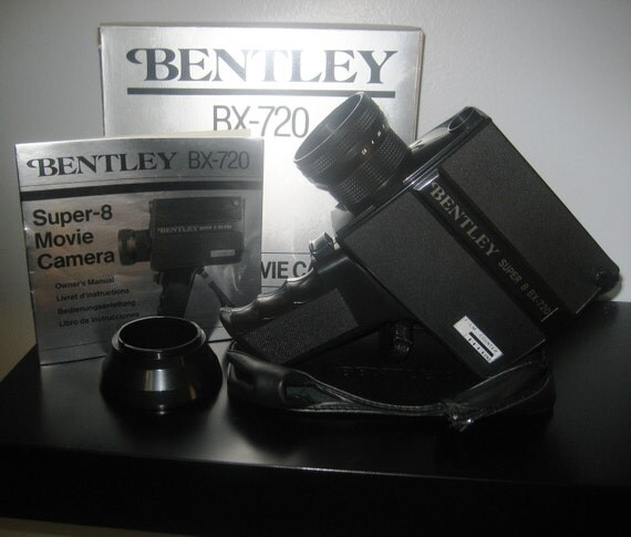 Bentley BX-720 SUPER-8 MOVIE Camera w/Original Box, Etc.
