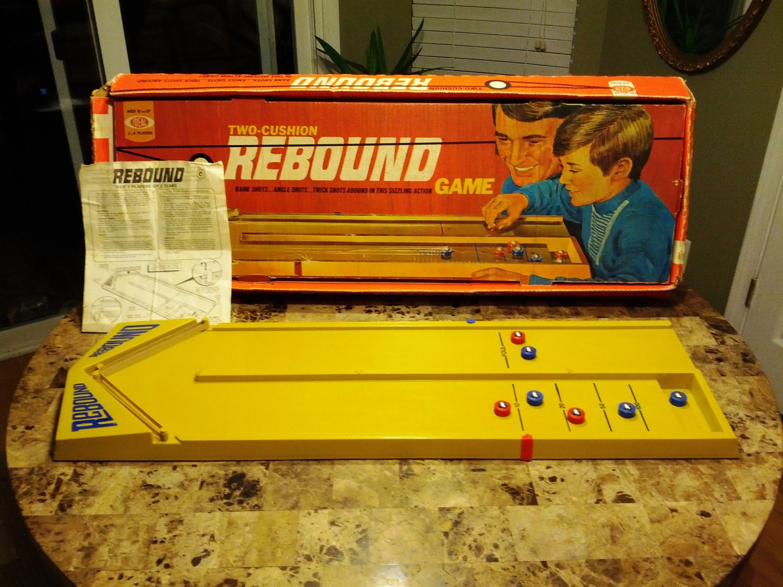 Vintage Toys And Games : Vintage rebound game iob box w pucks and