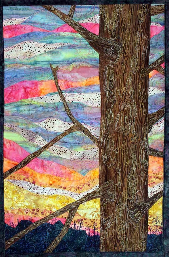 Quilted Wall Hanging Of Winter Sunset By Jpgstudio2536 On Etsy