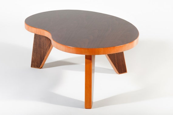 80 DOLLARS OFF SALE //  Mid century modern, reclaimed wood, kidney bean, small table (prototype version)